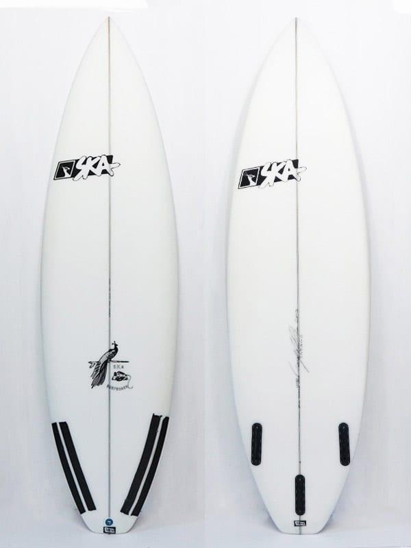 Tavola da surf Shortboard performante modello SK3. front e back