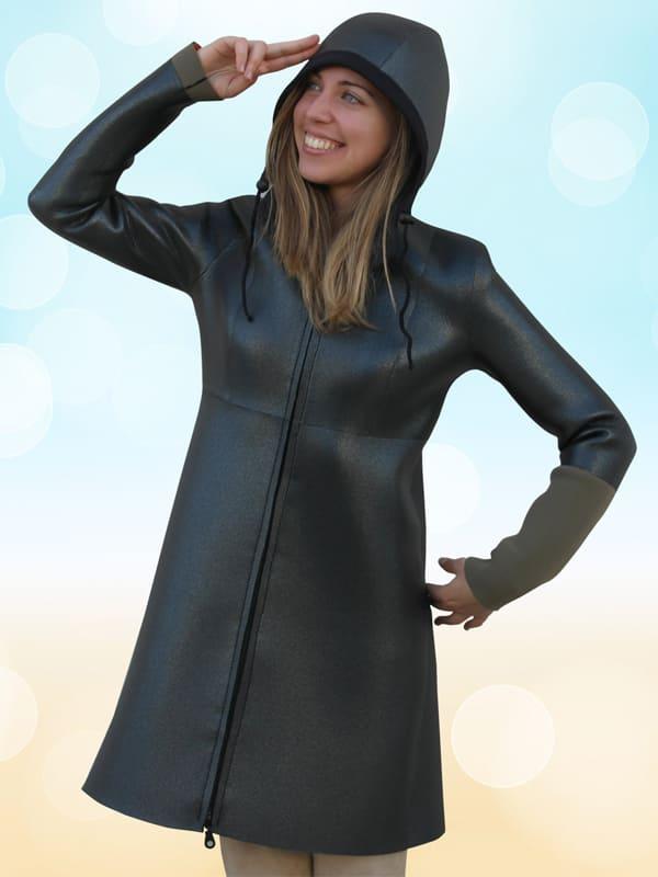 giacca muta 3 mm per osservare le onde senza patire freddo e vento