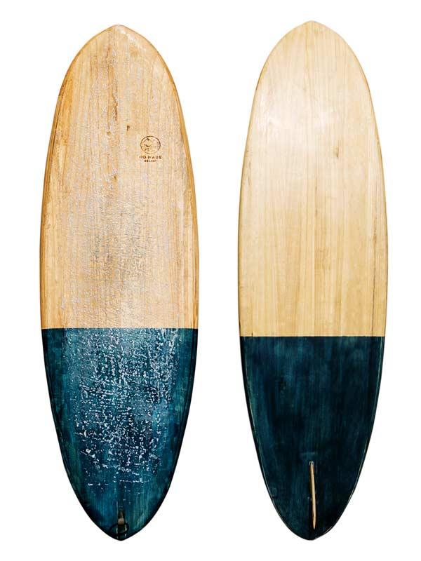 surf in legno prodotto a mano e customizzabile