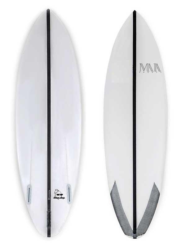 tavola da surf short, ecoboard senza longherone per performance e sostenibilità