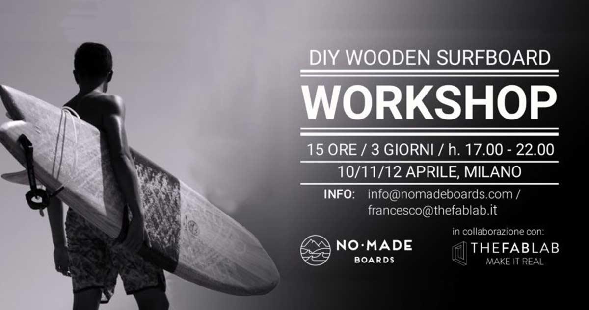 tavola da surf in legno il workshop promosso da Blide.zone