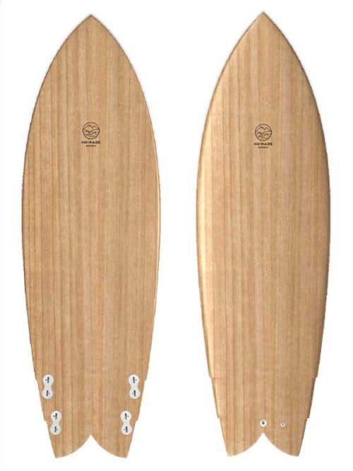 Rendering tavola surf in legno personalizzabile