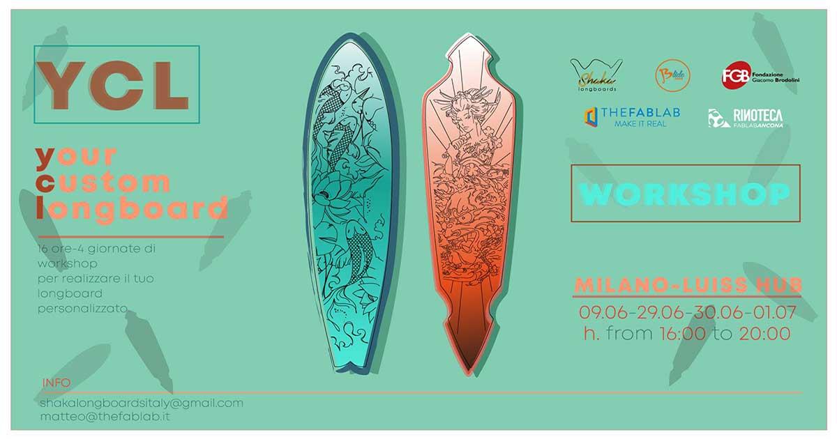Un workshop organizzato da shaka longboard e Blide, per creare lil longboard su misura per ogni partercipante