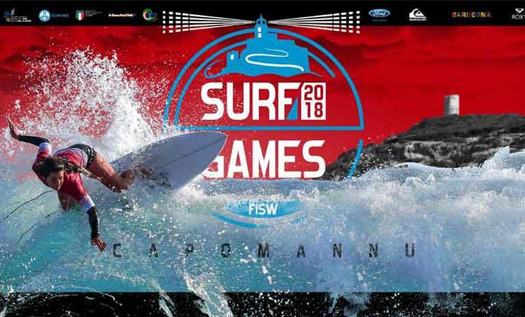locandina FISW Surf Games e Sagra del surf 2018