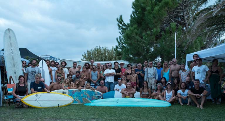 Foto di gruppo surf Jam 2018 la manifestazione più grande di shaper italiani
