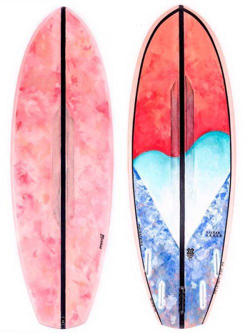 tavola surf esclusiva su Blide con disegno di mastereaster la pittrice e designer