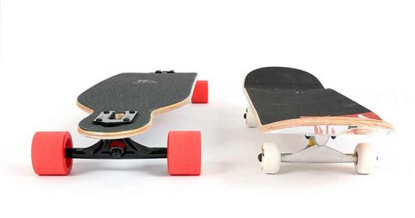 skateboard vs longboard due tavole a confronto due mondi simili su pianeti diversi, su Blide l'analisi della tavola da skate e il confronto con i longboard