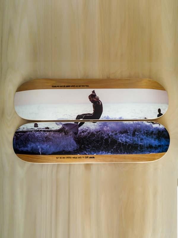 grafica skate un oggetto d'arredo unico personalizzabile sia graficamente che a livello di numero di tavole skate