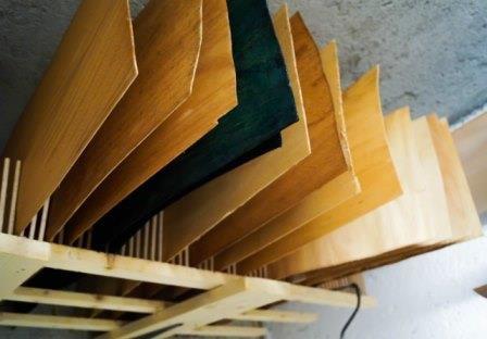 Listelli di Frassino utilizzati per la produzione di tavole da skate e tavole longboard