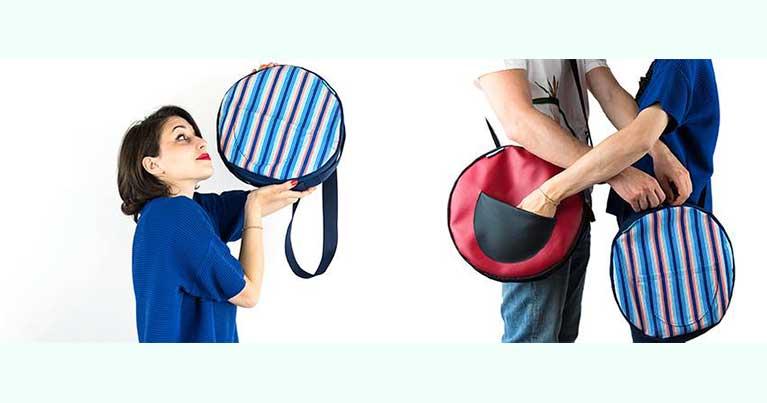 Portatelovunque il banner con le inimitabili borse riciclate da vecchie mute