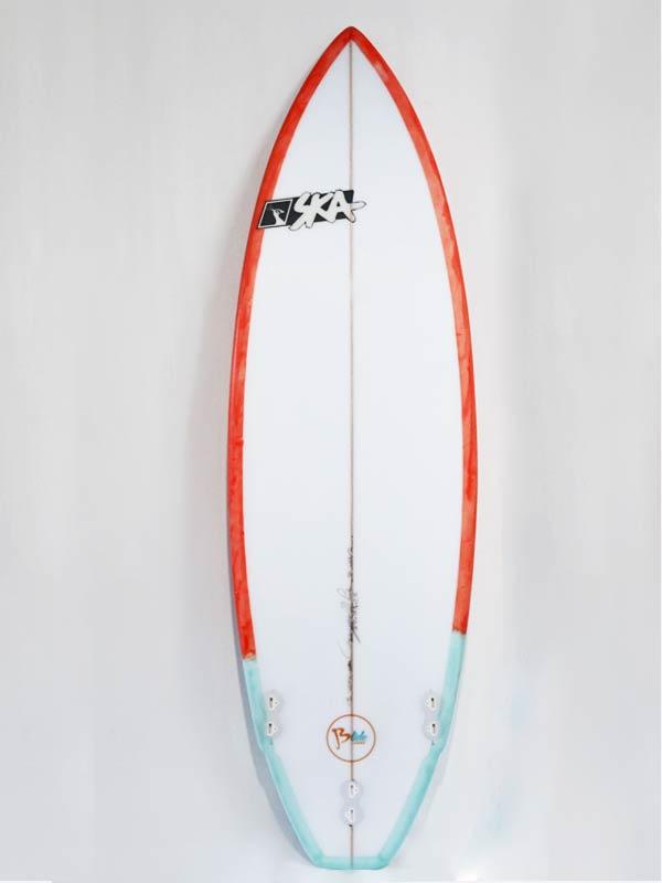 Il bottom della tavola da surf italiana Blide edition