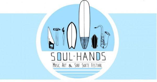 SOUL HANDS la locandina ufficiale dell'evento surf e skate italiano