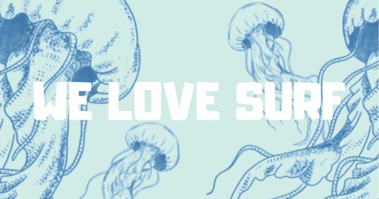 la copertina del primo album di we love surf dal nome jellyfish