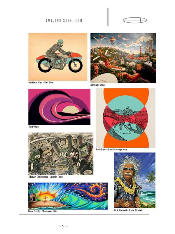 illustrazioni surf storiche surf art