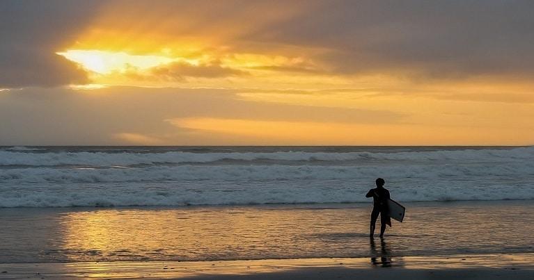 Surf all'alba