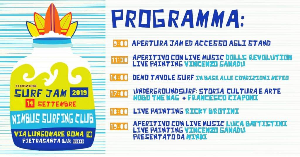 Programma surf jam 2019 l'evento di surf italiano organizzato da Blide