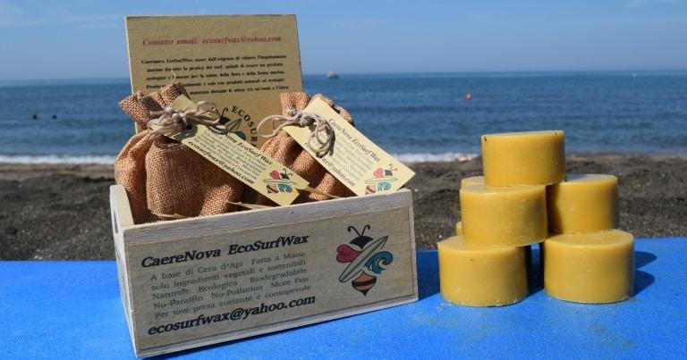 eco surf wax la cera da surf biologica 100% Italiana