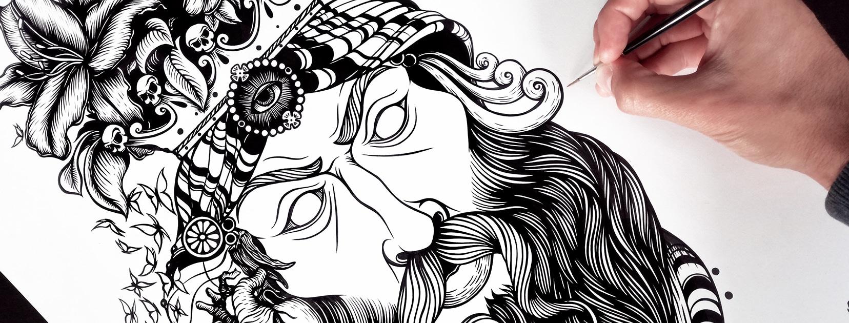 Artista di grafiche skate, un'immagine creata da Tela