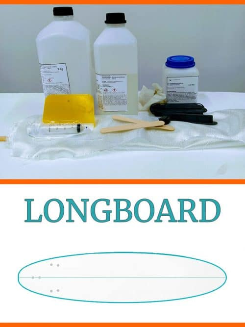 kit costruzione tavola surf longboard in EPS Epoxy