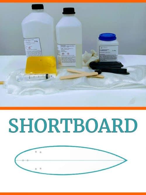 kit costruzione tavola surf shortboard in EPS Epoxy
