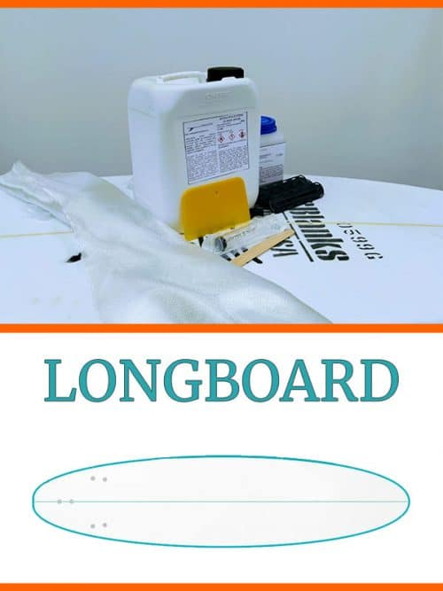 kit costruzione tavola surf longboard in PU Poliuretano