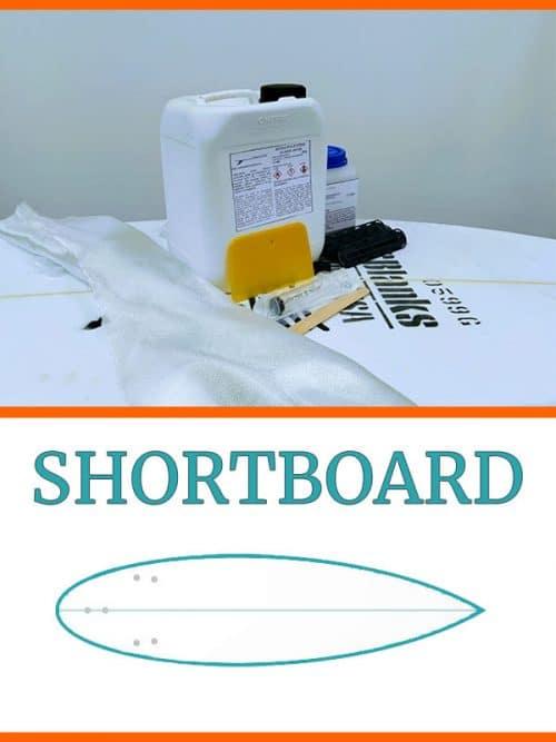 kit costruzione tavola surf shortboard in PU Poliuretano
