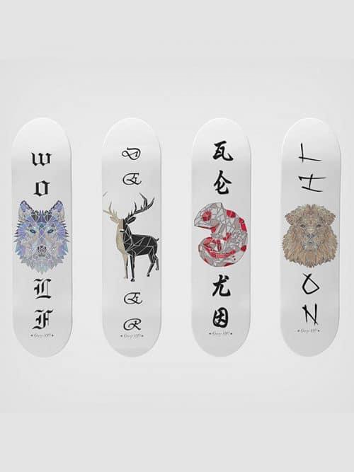 animal collection la collezione skate artistica per arredare con skate espositivi di stile e design made in italy