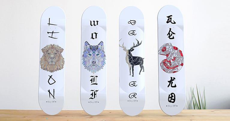 skate art la collezione Animals in esclusiva su Blide