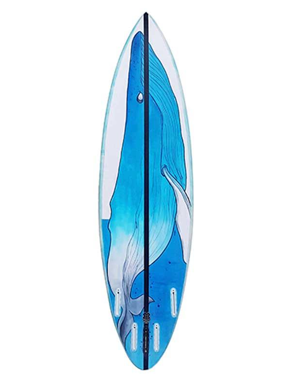 bottom surfboard design dipinto a mano