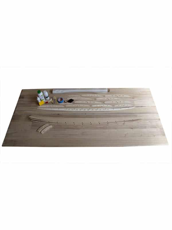 kit completo costruzione tavola surf in legno