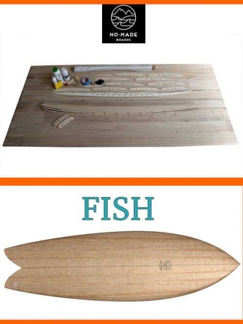 Kit per costruire fish surfboard legno