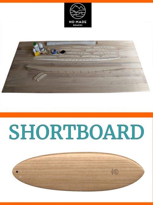 Kit per costruire shortboard surfboard legno