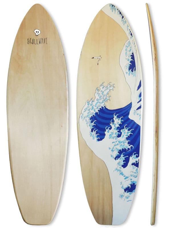 Tavola surf Grande onda di Hokusai design arte e cultura surf