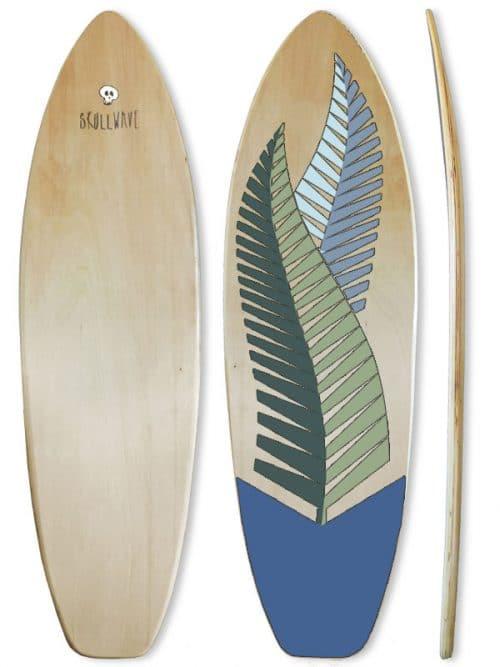 tavola surf in legno espositiva, arredo sala e ufficio surf style