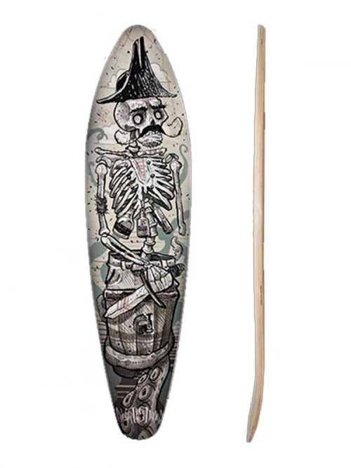 skate cruiser pin tail adatto anche con set up surf skate