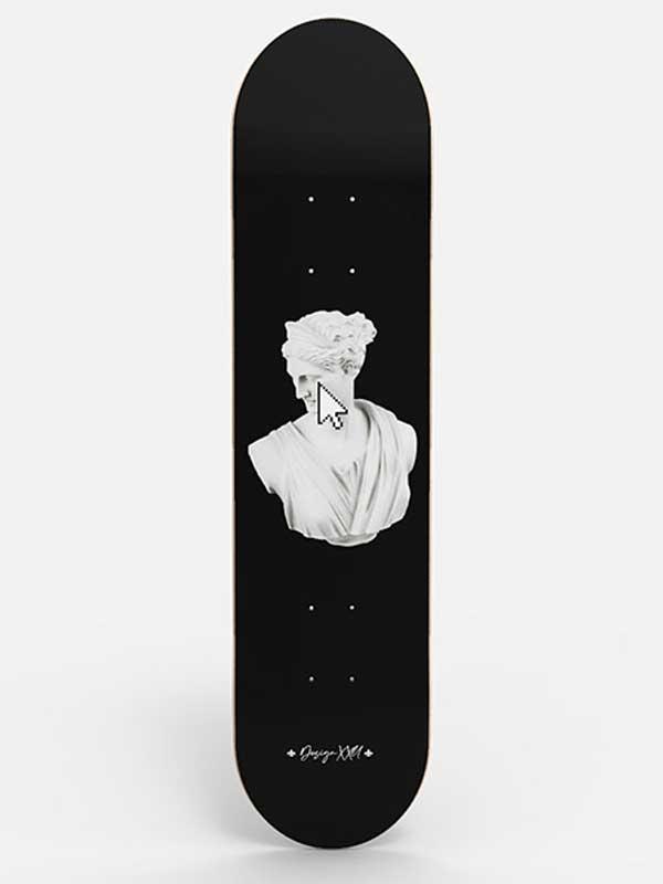 skateboard art arte moderna con soggetti classici il design unico e originale