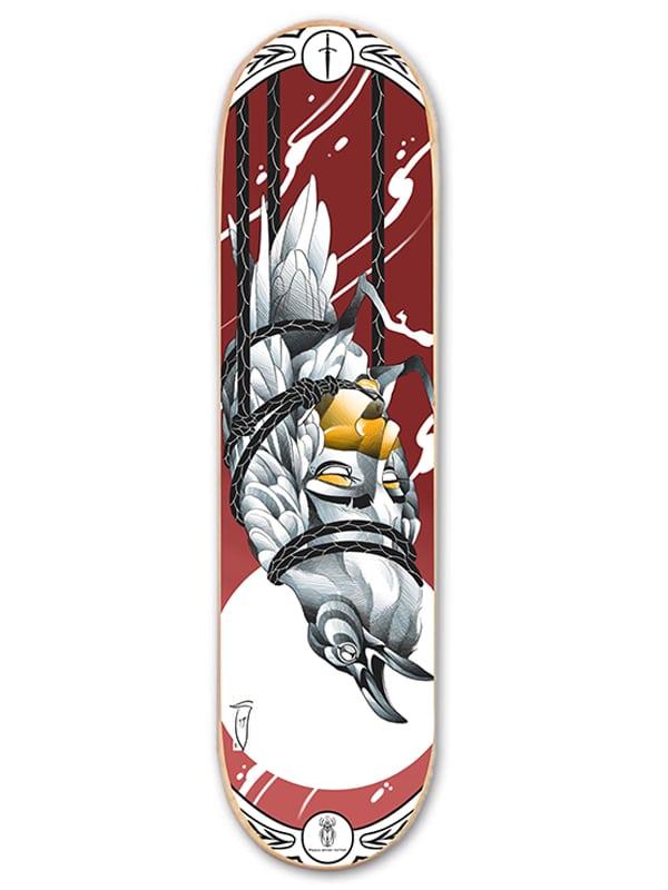 skateboard art tattoo