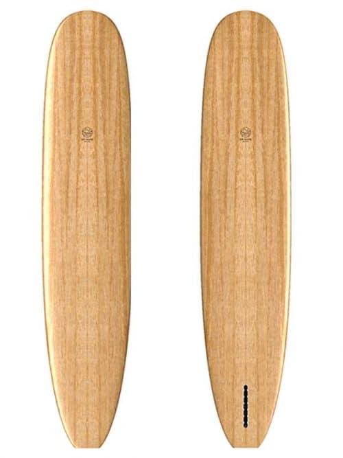 Longboard surf in legno su misura
