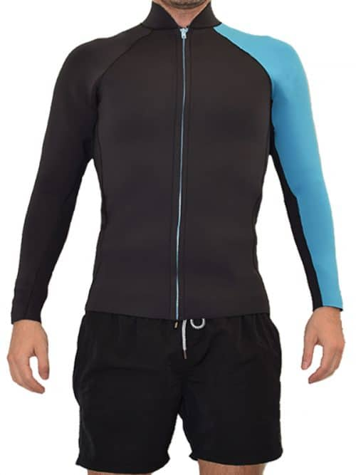 long sleeve corpetto surf primavera estate front zip retro style tailomade
