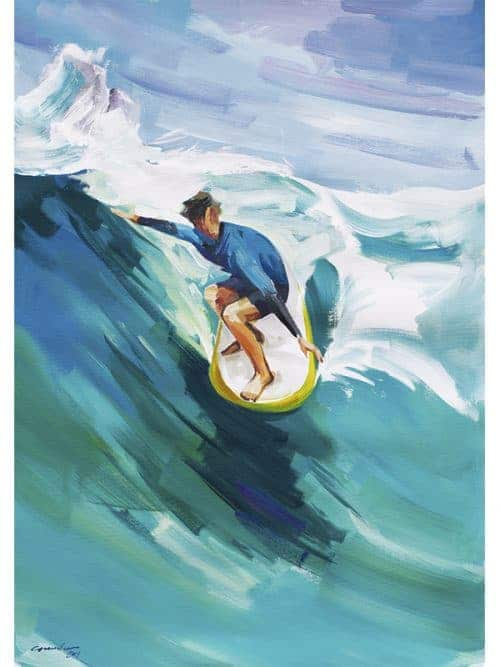 noseriding grab surfboard art surfboard long