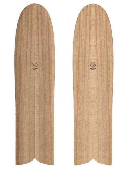 Tavola da surf alaia in legno totalmente ecosostenibile e green la tavola delle origini del surf