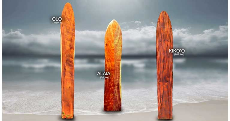 tavole surf alaia vari tipi di surfboard dei primi surfisti della storia