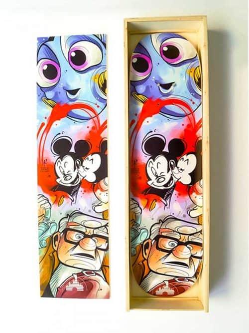 scatola per skateboard personalizzata finiture di pregio