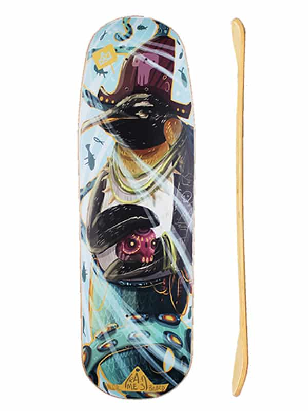 deck surfskate profilo e bottom