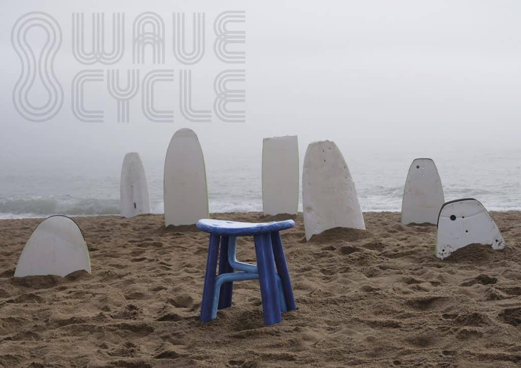 surf spugnoni rifiuti in oggetti di desgin