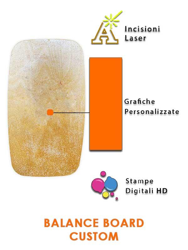 balance board la tavoletta dell'equilibrio con grafica personalizzabile interamente made in Italy